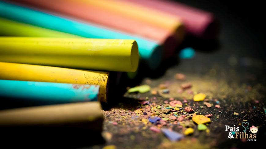 Como Fazer Giz Colorido Em Casa
