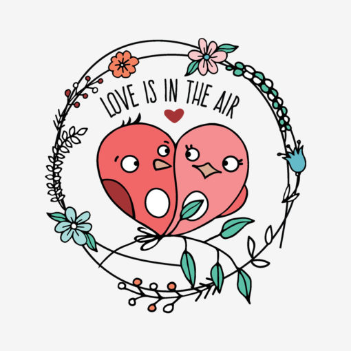 LOVE IS IN THE AIR Badge