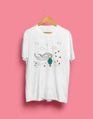 Camiseta Menina Ao Vento!