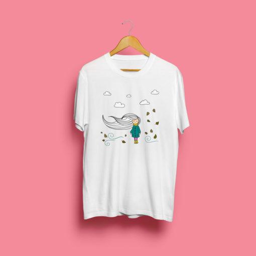 Camiseta Cabelos Ao Vento