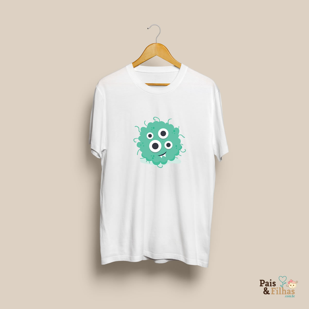 Camiseta Em Poliéster Com Estampa Personalizada Coleção Monstros