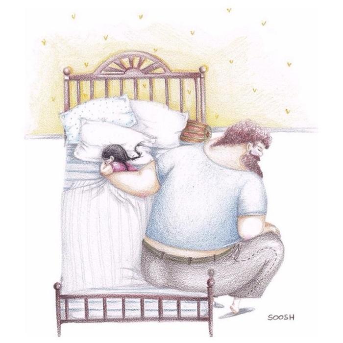 Ilustradora Ucraniana Retrata O Amor Especial Entre Pai E Filha De Maneira Tocante 02