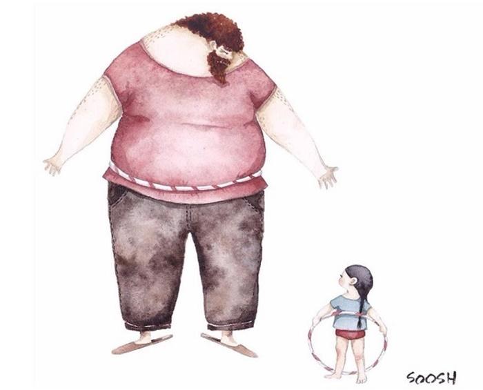 Ilustradora Ucraniana Retrata O Amor Especial Entre Pai E Filha De Maneira Tocante 03