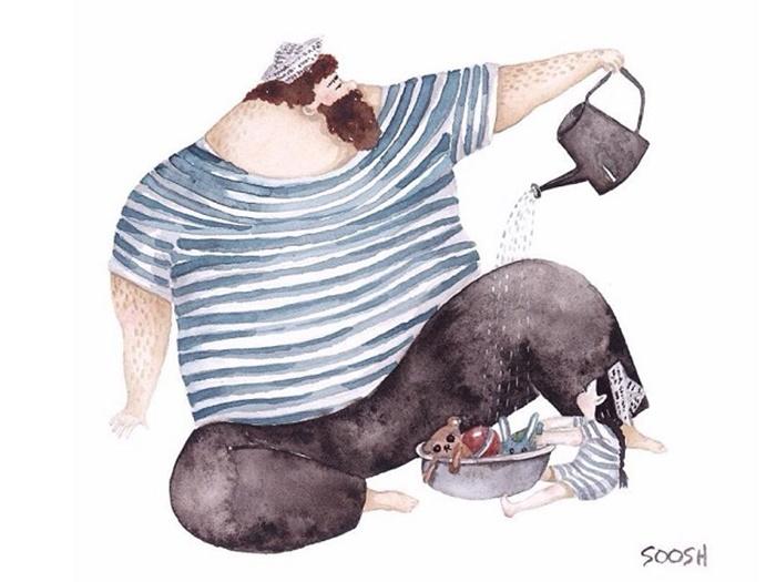 Ilustradora Ucraniana Retrata O Amor Especial Entre Pai E Filha De Maneira Tocante 04