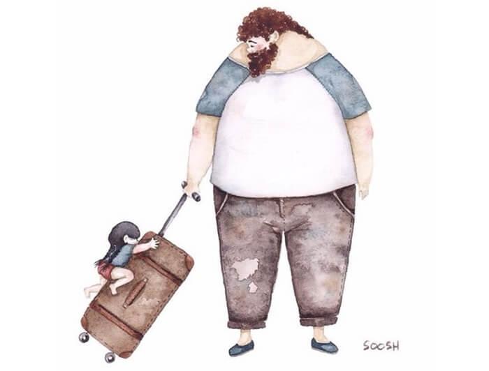 Ilustradora Ucraniana Retrata O Amor Especial Entre Pai E Filha De Maneira Tocante 08