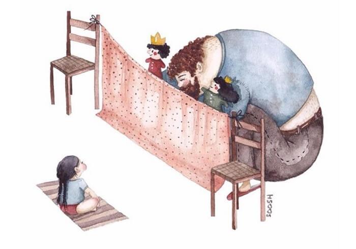 Ilustradora Ucraniana Retrata O Amor Especial Entre Pai E Filha De Maneira Tocante 09