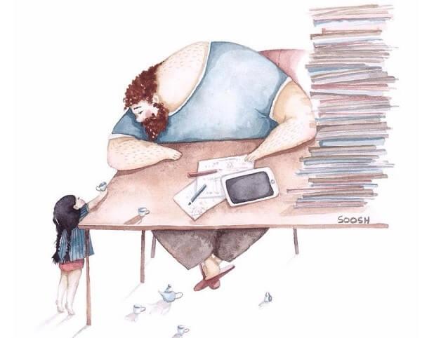Ilustradora Ucraniana Retrata O Amor Especial Entre Pai E Filha De Maneira Tocante 10