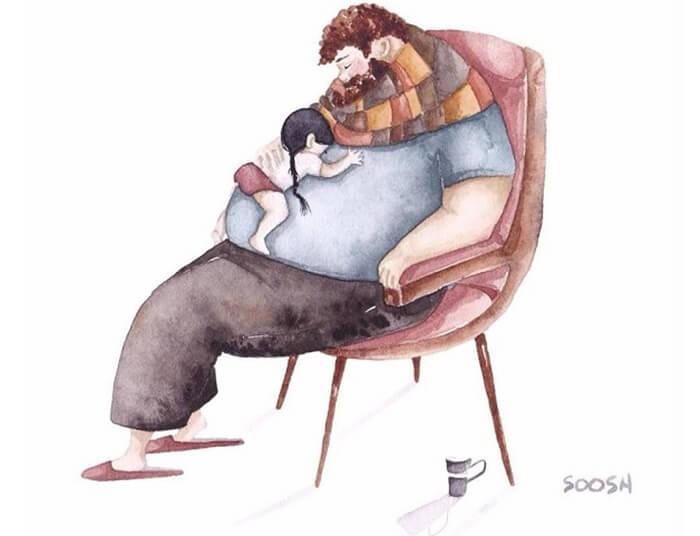 Ilustradora Ucraniana Retrata O Amor Especial Entre Pai E Filha De Maneira Tocante 12