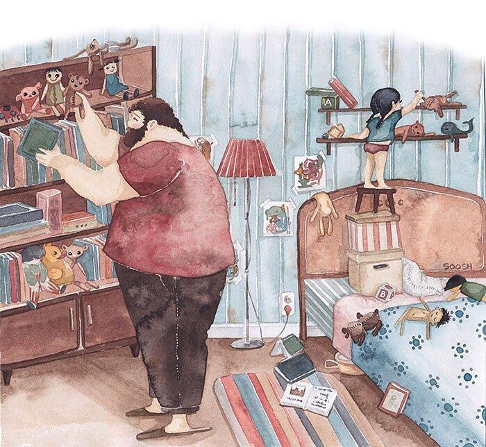 Ilustradora Ucraniana Retrata O Amor Especial Entre Pai E Filha De Maneira Tocante 15